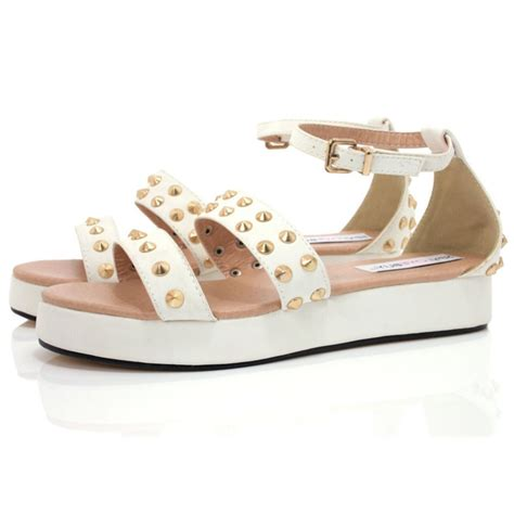 platform sandals flat white leather style flatform sandals buy white leather