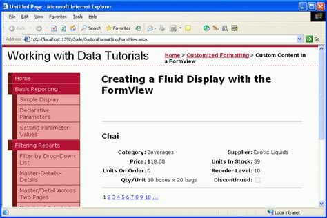 grid layout asp net using the formview s templates c the asp net site