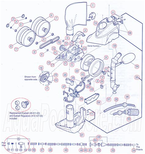 polaris pool parts diagram click on circled part numbers to view buy a part