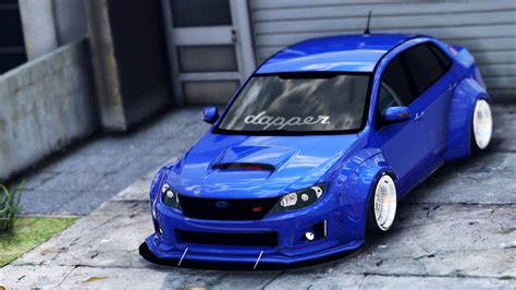 subaru rsti widebody subaru wrx sti widebody gta5 mods com