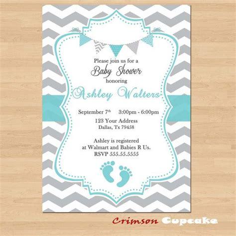 chevron printable invitation template printable baby shower blue grey chevron birthday party