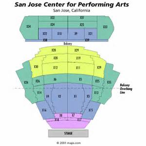 San Antonio Convention Center Floor Plan san jose center for performing arts seating chart san