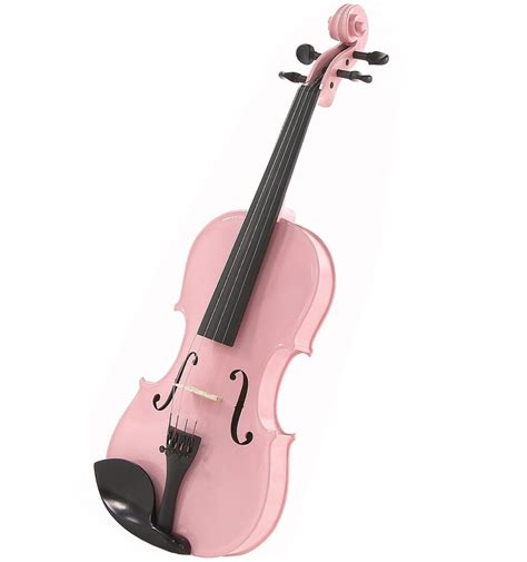 Bow Window new pink student 4 4 size violin with bow and case