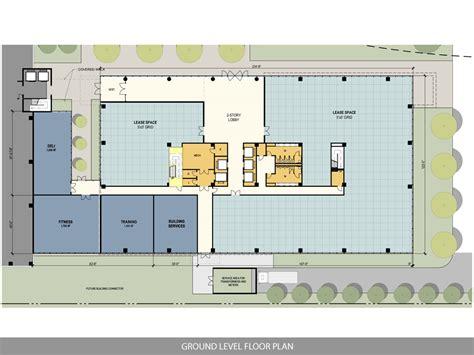 building ground floor plan ten story west belt office