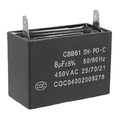 air conditioner fan motor start capacitor amico cbb61 air conditioner fan motor start capacitor 8uf 450v ac 50 60 hz d neeseher