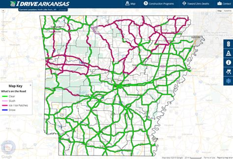 iowa road conditions color map road conditions map my