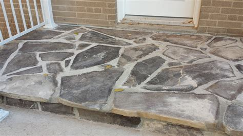 flagstone front step solid concrete solutions