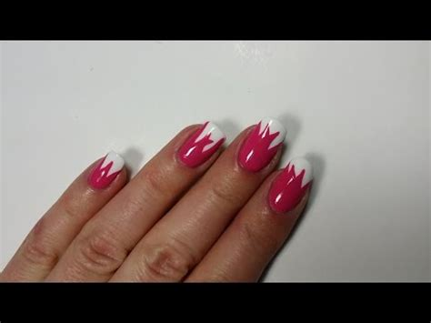 tulip flower nail art youtube mother s day tulip nails one stroke nail art youtube
