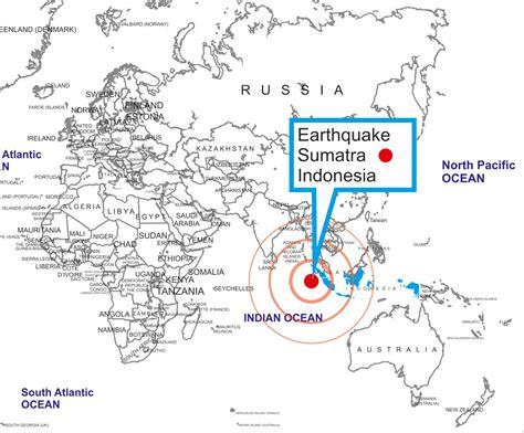 earthquake map indonesia earthquake in sumatra world map