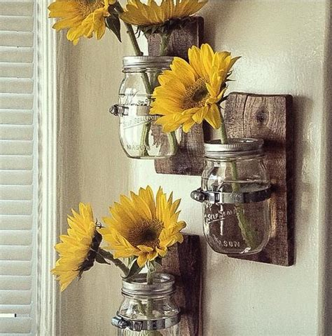 country style wall vases cottage chic mason jar hanging