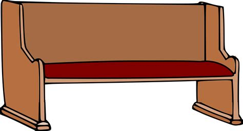 pew benches clipart church pew