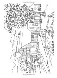 Country Scenes Creative Haven Dover Coloring Book Tree Farm Coloring Pages