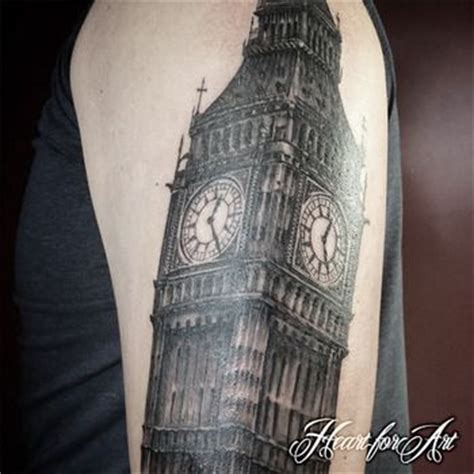 big ben tattoo architecture of big ben part of a themed