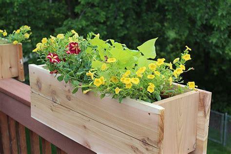 diy railing planter 1000 ideas about deck railing planters on