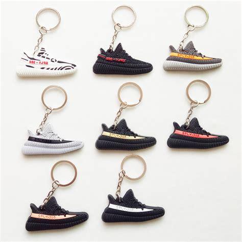 aliexpress yeezy v2 mini silicone yeezy boost 350 v2 shoes keychain bag charm
