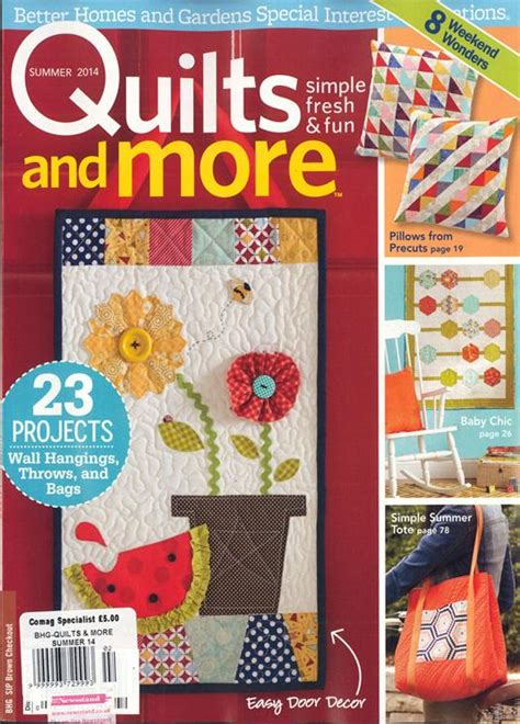 Quilts And More Magazine Subscription by Bhg Quilts And More Magazine Subscription Buy At