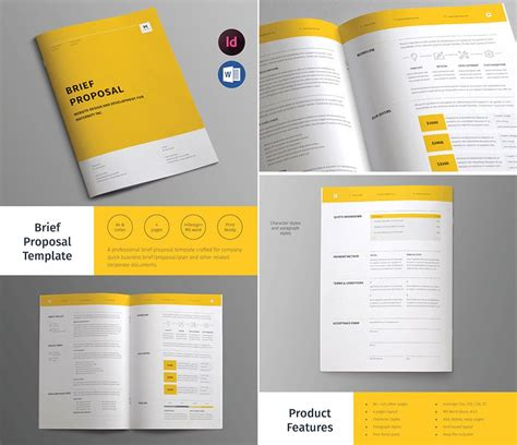 design proposal ideas business brief proposal template design editorial