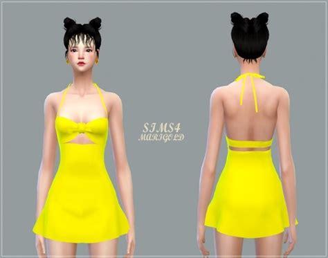 js sims 4 bow collar dress sims 4 bow dress bow swim dress at marigold 187 sims 4 updates