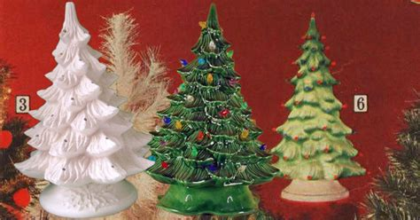 ceramic christmas trees are the hottest vintage holiday