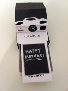 polaroid pop up birthday card with printable template tutorial polaroid pop up card diy crafts