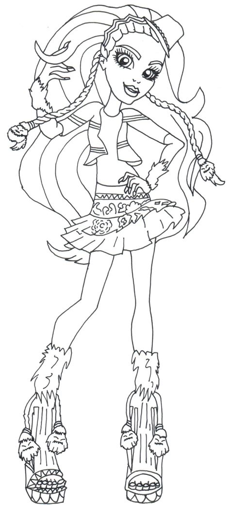 monster high coloring pages astranova peri and pearl serpentine monster high coloring page png
