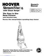 hoover f5918 900 pet steamvac spinscrub manuals