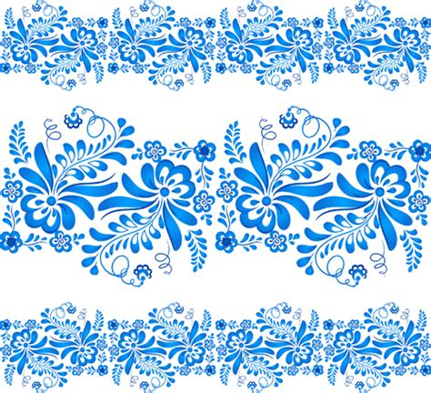 blue elegant pattern elegant blue floral pattern background vector 04 vector