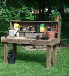 wooden potting bench 25 best ideas about potting station on pinterest garden table potting bench plans