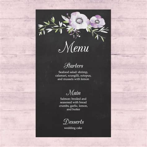design menu for wedding wedding menu design vector free download