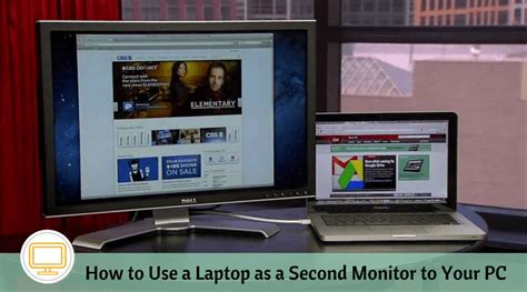 how to use on laptop how to use a laptop as a second monitor to your pc