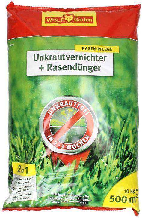 Wolf Rasendünger Mit Unkrautvernichter 19 by Wolf Garten Unkrautvernichter D 252 Nger 1 Packung