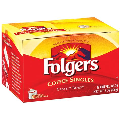 Single Serve Coffee Bags by Folgers Single Serve Coffee Classic Coffee Bags 38 Ct