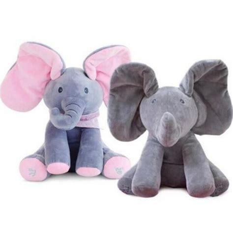 Sepatu Pria 622 01 boneka gajah dengan musik lagu telinga bergerak bahan