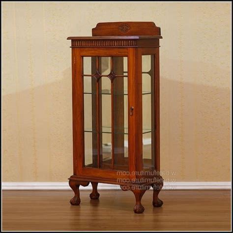 Small Curio Cabinet With Glass Doors Cabinet Home Glass Door Curio Cabinet