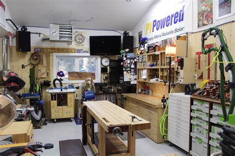 Car Garage Design Ideas steve s spacious garage woodshop the wood whisperer