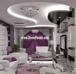 Room stencil template model crown living room interior ceiling design