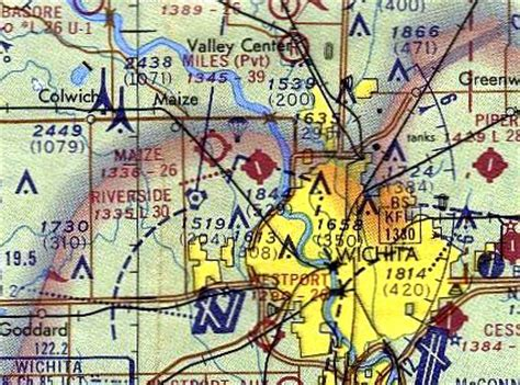 wichita sectional chart abandoned little known airfields kansas wichita area