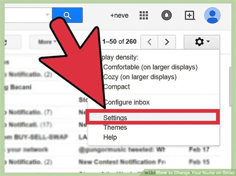Gmail Email Search Name How To Change Your Name On Gmail 5 Steps With Pictures