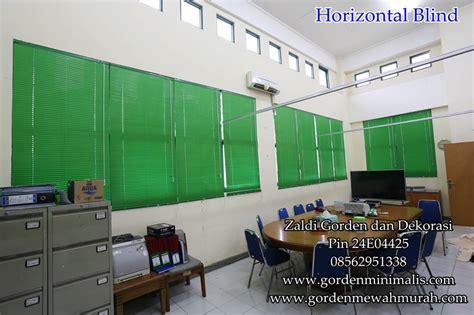 Horizontal Blind Untuk Kantor gorden horizontal blind terbaru beserta harga tersedia