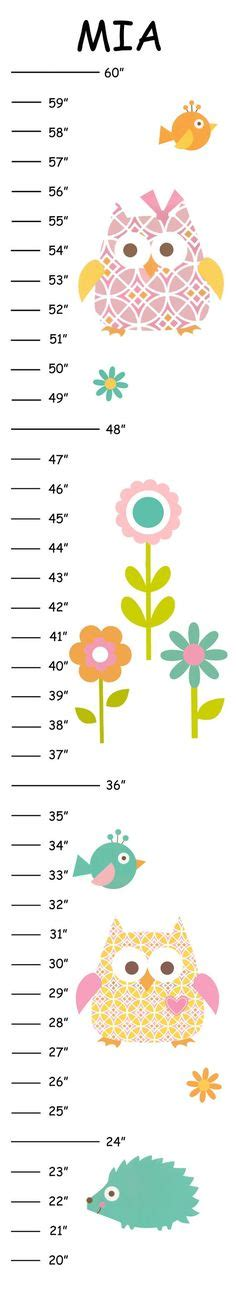 printable owl growth chart little owl baby shower