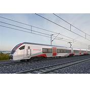 Mock Up Of New Greater Anglia Train Set At Rail Depot