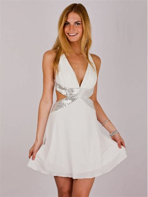 White And Silver Party Dress World Dresses