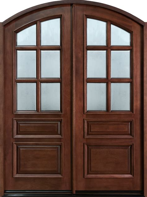 Entry Door In Stock Double Solid Wood With Dark Wooden Doors Exterior