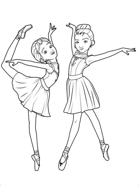 Ballerina para pintar - Dibujos para imprimir y colorear.
