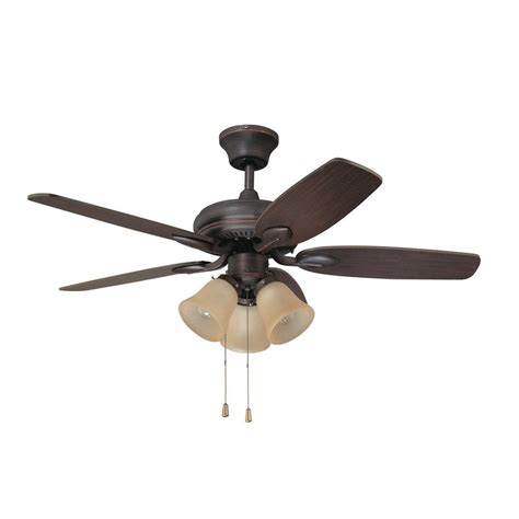 Shop Kendal Lighting Cordova 42 In Copper Bronze Downrod Copper Ceiling Fan With Light