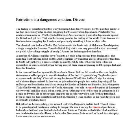 Patriotism Essays by Essay On Patriotism Docoments Ojazlink