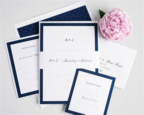 Wedding Invitations Navy by Sophisticated Navy Wedding Invites Wedding Invitations