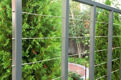 Steel Trellis Custom Steel And Aircraft Cable Fence Trellis For Vine