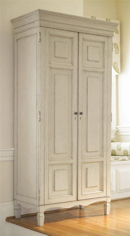 distressed white armoire summer shelving units and cabinets on pinterest