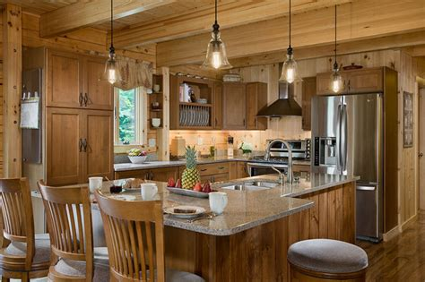 Kitchen Coventry Log Homes Cabins Coventry Log Homes Custom Craftsman